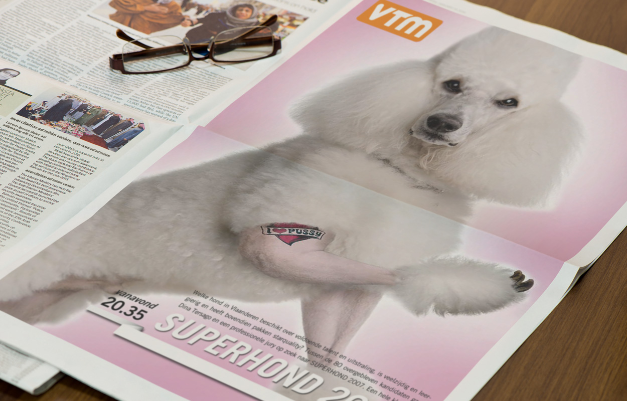Superhond-ADVERTENTIE